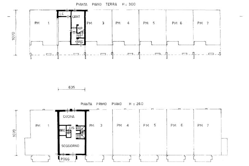 Pianta Villetta A Schiera Due Piani Cheap Planimetria Per Rif Z